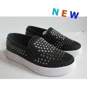 New Mk Crystal Studded Slipon Sneakers